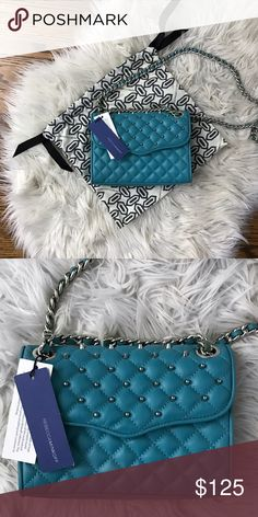 Rebecca Minkoff Quilted Mini Affair With Studs New with Tags and Dustbag. With just enough space to stash your must-haves (lipgloss, cell phone, wallet, keys, and sunglasses) this compact style goes from daytime fun to evening with flair. Rebecca Minkoff Bags Crossbody Bags