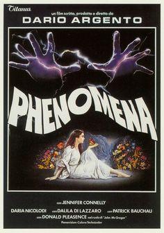 Phenomena (1985) Dario Argento Film, with Jennifer Connelly, Daria Nicolodi, Dalila Di Lazzaro & Donald Pleasence Movie Poster https://www.youtube.com/user/PopcornCinemaShow