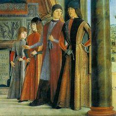 I figli di Giovanni II Bentivoglio e di Ginevra Sforza LORENZO COSTA detto anche il Vecchio (Ferrara, 1460 – Mantova, 5 marzo 1535)  #TuscanyAgriturismoGiratola