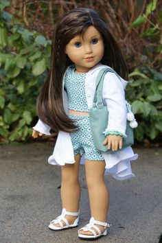 """American Girl Clothes - """"Un-Seasonably Warm"""" Five Piece Outfit fits 18 inch Dolls"""