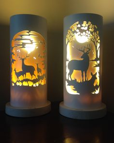 Woodland Lamps by Tique Lights - Photo Lamp, Pvc Pipe Crafts, Study Lamps, Bamboo Lamp, Tree Lamp, Creative Lamps, Wooden Lamp, Night Lamps, Deco Table