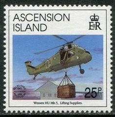 Sello: Wessex HU Mk 5 (Ascensión Isla) (Falkland Liberation) Mi:AC 588,Sn:AC 546,Yt:AC 569