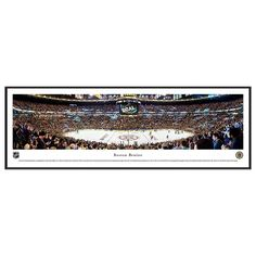 Boston Bruins Hockey Arena Center Ice Framed Wall Art, Multicolor