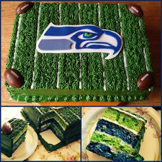 Seattle Seahawks cake Red Birthday Party, 11th Birthday, Birthday Ideas, Cupcakes, Cupcake Cakes, Sport Cakes, Cheesecake Cake, Gift Cake, Dream Cake