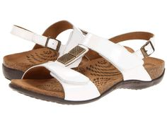 NEW ORTHAHEEL DR. WEIL WHITE SONORA EURO STRAP ORTHOTIC SANDAL FLIP FLOPS SZ 10