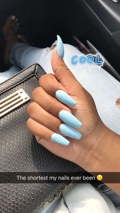 Most Sexy and Trendy Prom and Wedding Acrylic Nails and Matte Nails for this Season - Amately Best Acrylic Nails, Matte Nails, Acrylic Nail Designs, Blue Coffin Nails, Dope Nails, Fun Nails, Pretty Nails, Dream Nails, Nails Inspiration