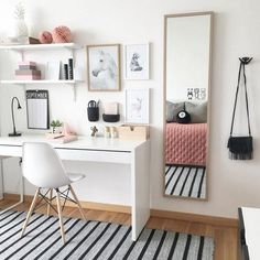 home workspace design inspirations; home office storage ideas for small spaces; home workspace design inspirations; home office storage ideas for small spaces; home office ideas; Bedroom Desk, Room Ideas Bedroom, Small Room Bedroom, Home Decor Bedroom, Diy Bedroom, Bedroom Storage, Master Bedroom, Bedroom Girls, Teenage Girl Bedrooms