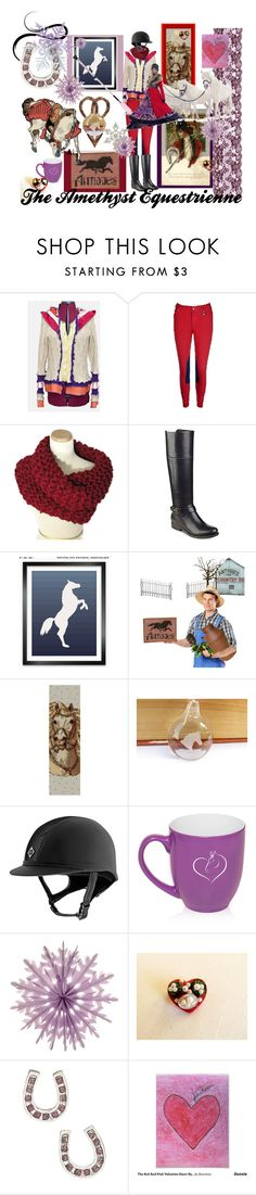 """""""The Amethyst Equestrienne"""" by rusticrevivals ❤ liked on Polyvore featuring Tommy Hilfiger and Cultural Intrigue"""