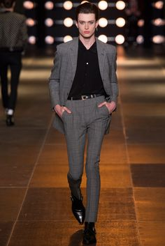 See the complete Saint Laurent Spring 2014 Menswear collection.