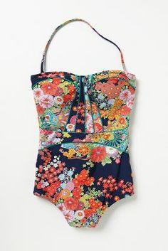 kimono floral swimsuit