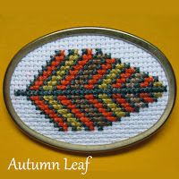 Floss & Fleece: Free printable autumn leaf cross-stitch chart