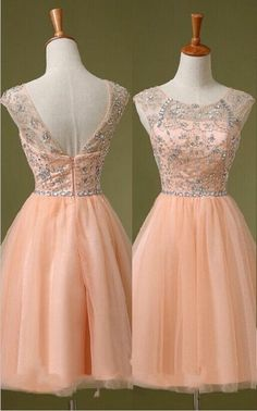 Charming Graduation Dresses Cap Sleeves High Neck Homecoming Dresses ,Back V Beaded Short Prom Dresses Homecoming Dress,Backless Short Prom Gowns Cocktail Dress,Knee Length Wedding Party Gown For Sweet 16 Dresses http://fancytemplestore.com