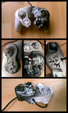 Custom Ganondorf Nintendo Gamecube video game controller - Smash Bros. Melee