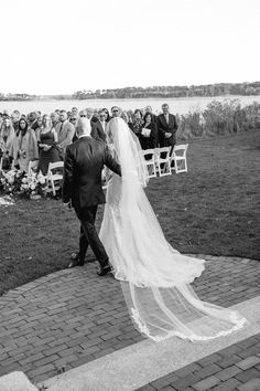 This Cape Cod Wedding Is The Definition Of East Coast Elegance Cape Cod Wedding, Bridal Veils, East Coast, Wedding Accessories, Compliments, Bloom, Bride, Elegant, Wedding Dresses