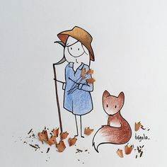 29 year old Sicilian artist Virginia Azzurra Di Giorgio draws cute characters and include real objects to her illustrations. Cute Illustration, Character Illustration, Little Doll, Arte Floral, Medieval Art, Illustrations, Cute Images, Art Background, Easy Drawings