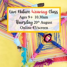 Join us for a live nature weaving class here at The Craft Corner. This class is so much fun, a great project for children ages 9 and up to do solo or younger kids with some help from an adult. Gather your materials and lets get started. Craft Online, Online Art, Weaving Projects, Craft Projects, Crafts For Kids, Arts And Crafts, Class Schedule, Craft Corner, Nature Crafts