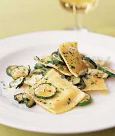 Ravioli With Roasted Zucchini recipe from realsimple.com #myplate #vegetables