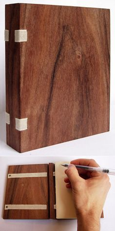 Core77 / This Just Inbox: Heavy-duty sketchbooks made from reclaimed wooden planks