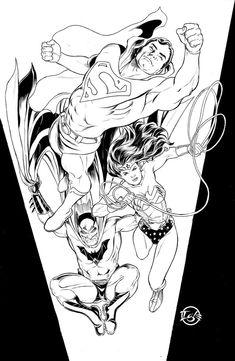 DC Comics Trinity Commission By JamalIgle
