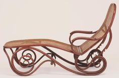Chaise Longue, Model No. 2 Made by Gebrüder Thonet (Thonet Brothers), Vienna, 1853 - present Geography: Made in Vienna, Austria, Europe Date: Designed before 1887 Medium: Bent beechwood, caning