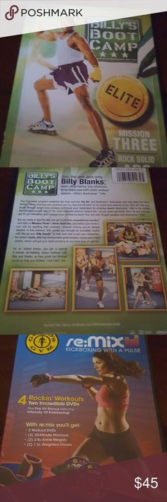 Workout CDs  (both) Billy Banks Abs boot camp/ Gold Gyms kickboxing  - without gloves/ankle weights golds gym Other