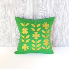 St. Patrick's Day Pillow Cover Shamrocks by LittleLauraLouCrafts