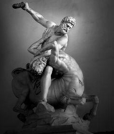 """JUAN DE BOLONIA (Giambologna): """"Hércules y el centauro Nesso"""", 1599."""