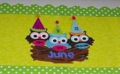 New Birthday Board Classroom Frog Ideas Owl Theme Classroom, Classroom Birthday, Classroom Ideas, Preschool Classroom, Classroom Organization, Classroom Management, Birthday Bulletin Boards, Birthday Board, Craft Activities For Kids