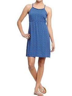 Women's Braided-Strap Poplin Dresses | Old Navy