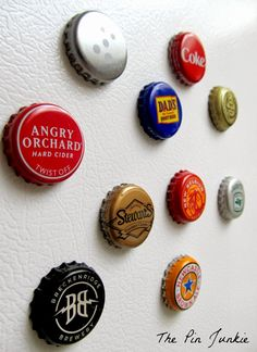 Bottle Cap Magnets..everybody loves these...we only make these from beer we have tried and liked. -Lacey Lyon