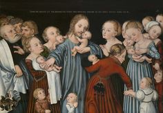 https://flic.kr/p/GWMSDH | Lucas Cranach the Elder – workshop, Christ Blessing the Children, c. 1538 | Paintings by Lucas Cranach and His Circle from the Collections of the National Gallery in Prague www.ngprague.cz/en/exposition-detail/cranach-from-all-sides/