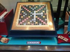 Bespoke Scrabble Board by Linley! Who is up for a game?