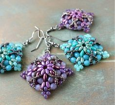 """Morrigan"" earrings - A free project from BeadSmith.com featured in Bead-Patterns.com Newsletter!"