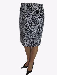 Amazon.com: Sourpuss Wild Sexy Animal Print Sexy Gray Leopard Pencil Skirt: Clothing