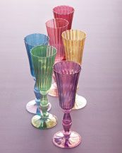 H5R4N Six Assorted Glass Flutes