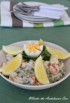Ensalada Rusa - a Russian (!) tapas classic of Spanish potato salad