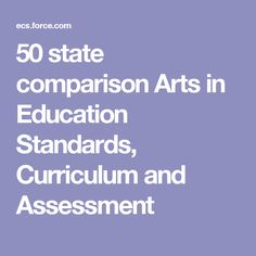 50 state comparison Arts in Education Standards, Curriculum and Assessment
