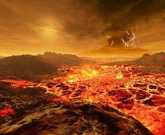 Oamanhecer nos planetas doSistema Solar - Vênus