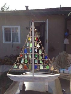 Sea Glass Sailboat