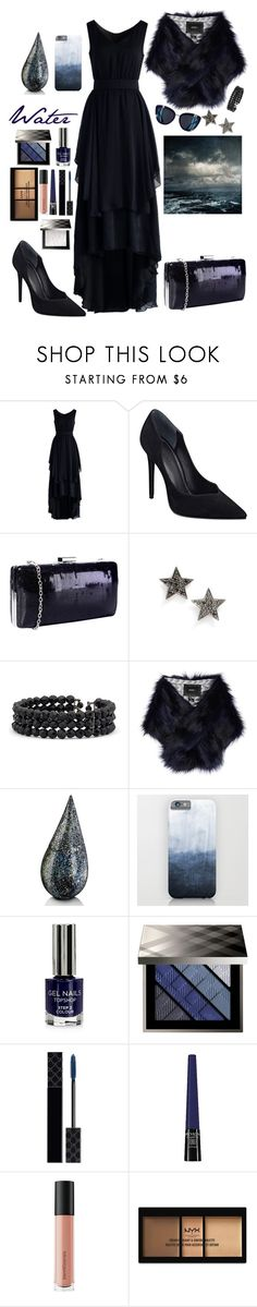 """""""Water Dark"""" by lexisamskywalker on Polyvore featuring Chicwish, Kendall + Kylie, Pilot, Dana Rebecca Designs, Mixit, Unreal Fur, La Prairie, Topshop, Burberry and Gucci"""