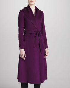 Donna Karan - Belted Cashmere Coat, Violet