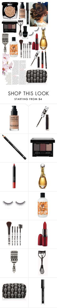 """Evening Make-up"" by loveselena22 ❤ liked on Polyvore featuring beauty, Chanel, Lime Crime, Givenchy, NARS Cosmetics, Christian Dior, shu uemura, Bumble and bumble, Forever 21 and MAC Cosmetics"
