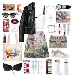 """""""Mix it up! #16"""" by strawberryandice on Polyvore featuring Mode, Barbara Bui, ADAM, Sophia Webster, Gucci, ban.do, Charlotte Russe, Chloe + Isabel, Skagen und Dolce&Gabbana"""