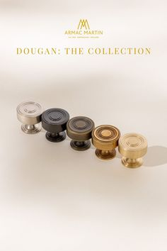 Dougan is a bold collection of Art deco style, luxury kitchen cabinet hardware made from the finest solid brass. This range features subtle ridges to add a touch of definition to each cabinet handle and is perfect to adorn your kitchen or bathroom cabinets. Brass Cabinet Hardware, Kitchen Cabinet Handles, Brass Handles, Cabinet Knobs, Brass Kitchen, Bathroom Design Inspiration, Classic Bathroom, Bathroom Design Luxury, Bathroom Cabinets