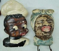 Vintage Mame & Black Sambo Plaster Wall Decor by TheIDconnection, $38.00