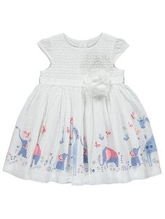 Elephant Print Corsage Dress, read reviews and buy online at George at ASDA. Shop from our latest range in Baby. If they have a special occasion to go to, th...