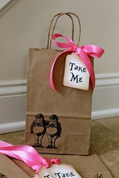 Adorable & simple party favor bag. Could put KTG info in here, BYA info. coupons for participating businesses, candy, etc.