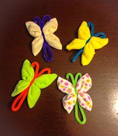 Cute washcloth butterflies. Courtesy of BabyCakes by Jen Honey. Follow on Instagram @babycakesgta
