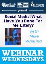 Social Media: What Have You Done For Me Lately?  http://www.multifamilyinsiders.com/socialmedia