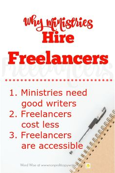 3 reasons ministries hire freelancers from Word Wise at Nonprofit Copywriter Creative Writing Jobs, Online Writing Jobs, Freelance Writing Jobs, Writing Resources, Blog Writing, In Writing, Writing Tips, Hire Freelancers, Copywriter